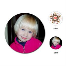 Photo Personalised Playing Cards Round Shape